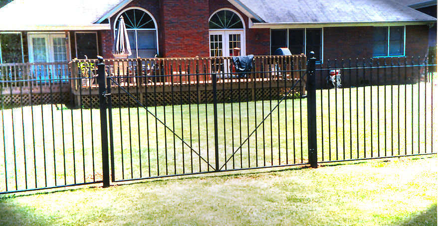 residential ornamental iron fence and gates