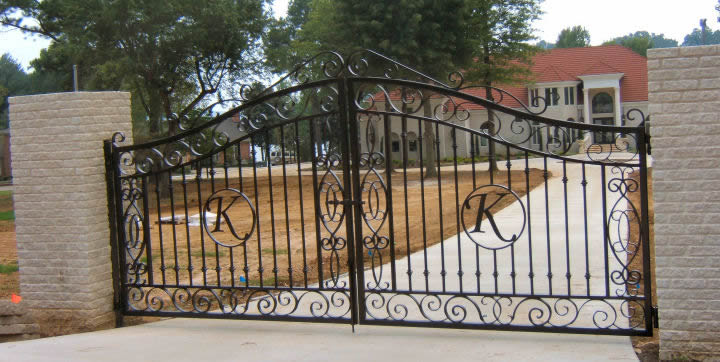 Forged iron gates