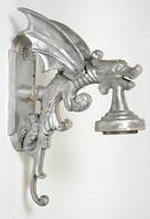 cast aluminum gargoyle wall mount lamp for outdoor or indoor use