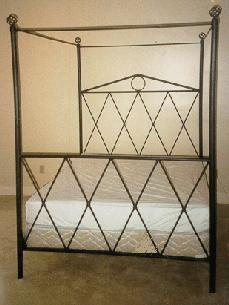 Metal Canopy Bed - US-Mattress: Mattresses from Sealy, Simmons