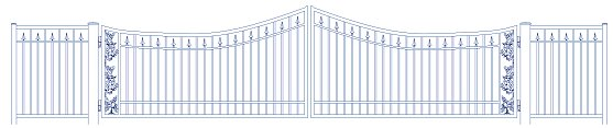 wrought iron gate AutoCad drawing
