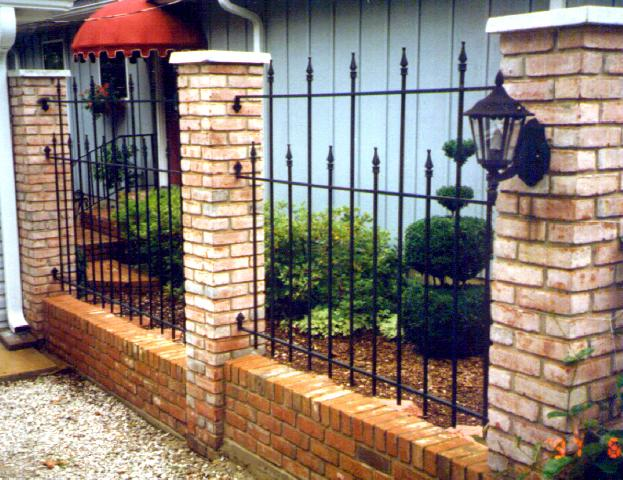 wrought iron fence with cast iron spears