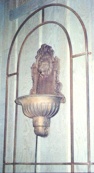 cast aluminum wall fountain