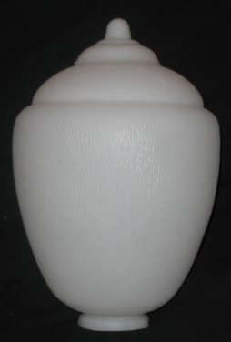 17 inch polyethylene acorn globe for street lamps
