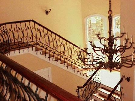 custom wrought iron interior railing