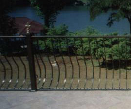 aluminum railing with belly pickets