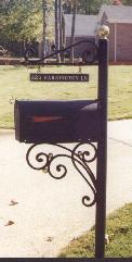 hand forged wrought iron mailbox post
