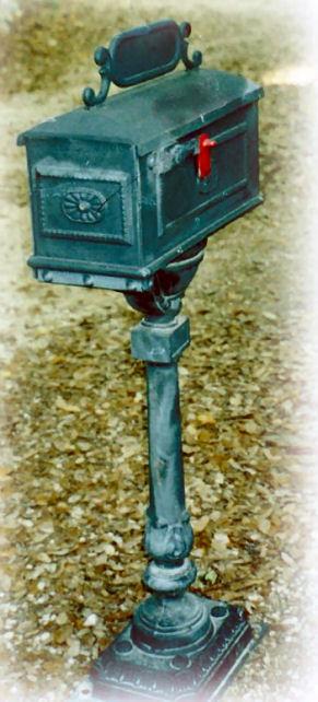 Cast Aluminum Mailbox Posts