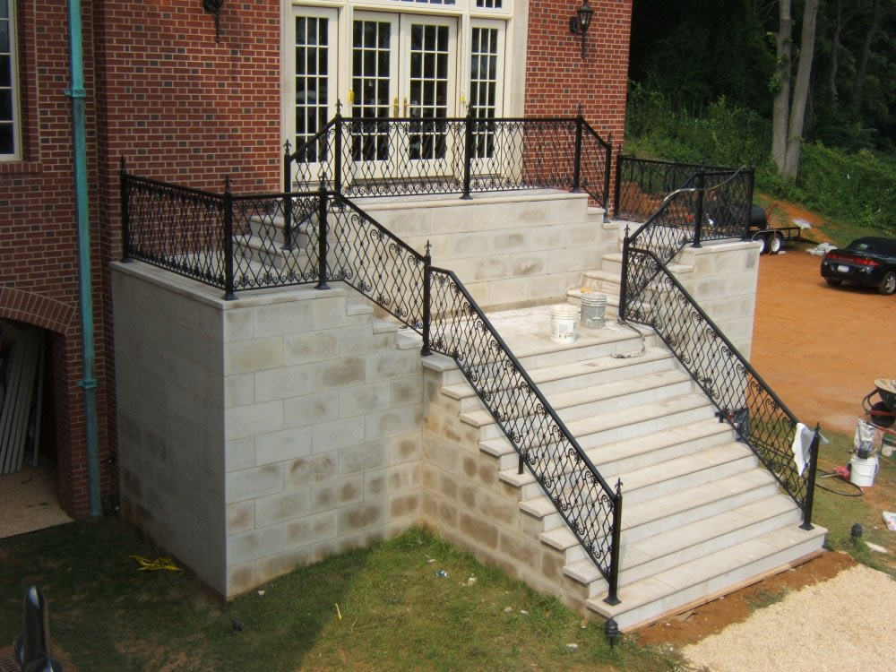 decorative metal porch railings