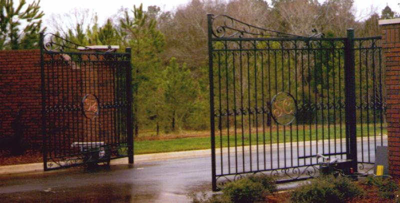 Wrought Iron Entry Gates Shoal Creek Estates