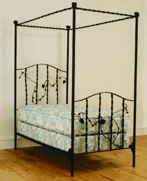 vineyard design hand forged wrought iron bed