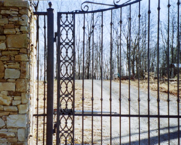 cast iron entry gate