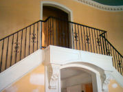 custom radius wrought iron stair railing