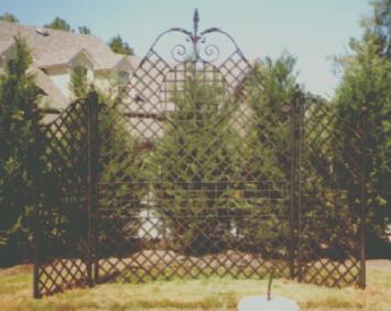ornamental iron trellis
