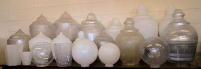 Street lamp globes