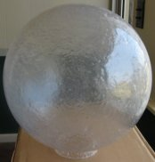 twelve inch polycarbonate cracked ice globe