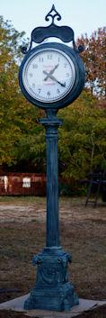 Cast Aluminum Antique Reproduction Street Clocks